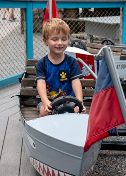 Kiddie rides at Knoebels Amusement Park