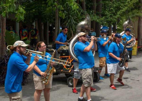 Band playing at Knoebels in Elysburg, Pennsylvania