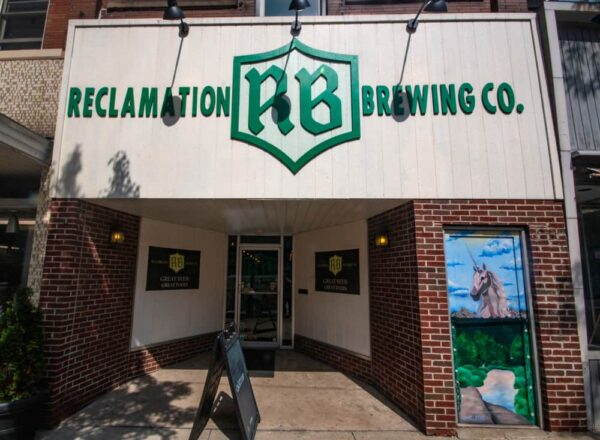 Exterior of Reclamation Brewing in Butler, Pennsylvania