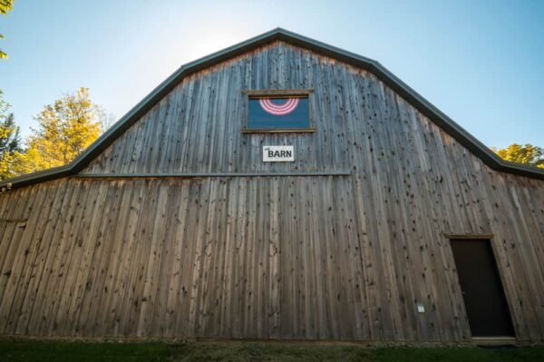 The Barn at the Sullivan County Historical Society Museum in Laporte, Pennsylvania