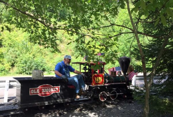 The train is a great thing to do at Knoebels Amusement Park