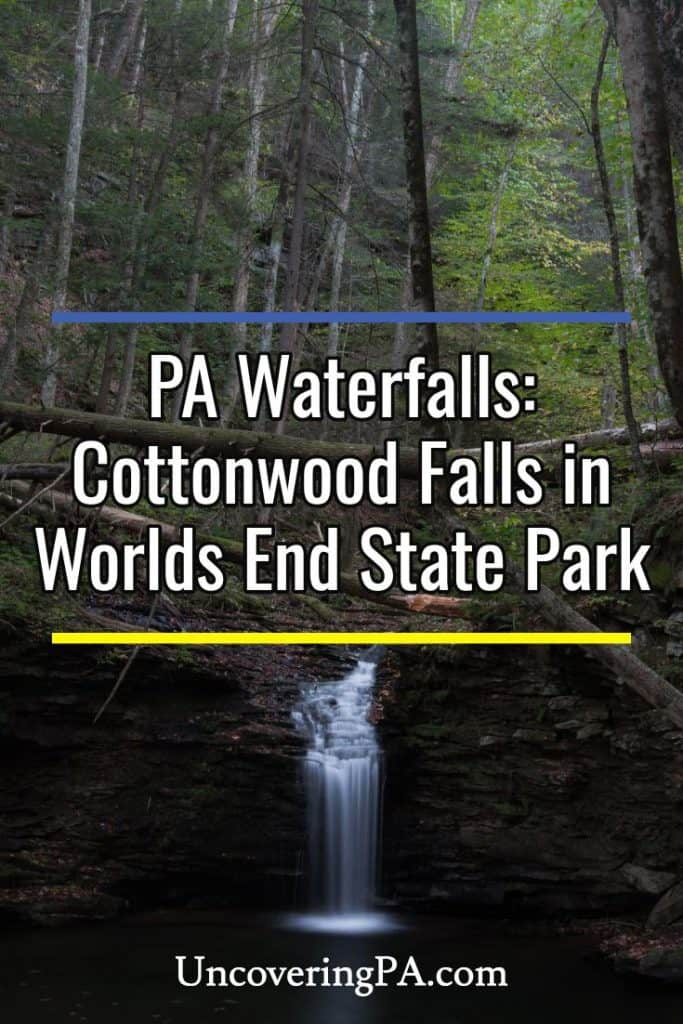 Cottonwood Falls in Pennsylvania's Worlds End State Park