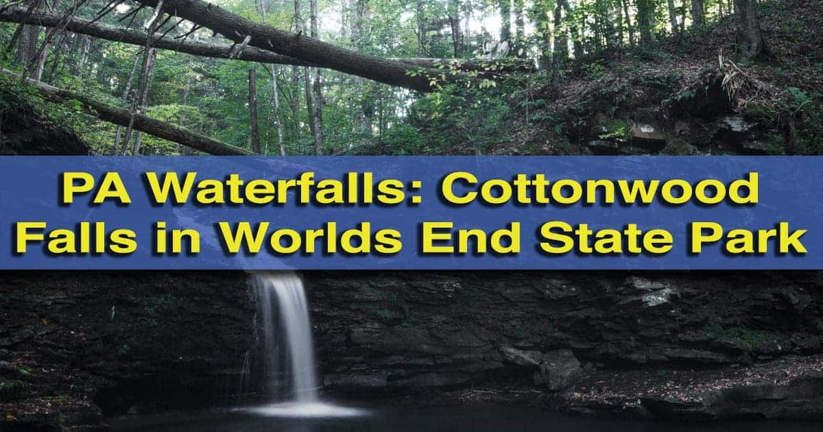 Cottonwood Falls in Worlds End State Park