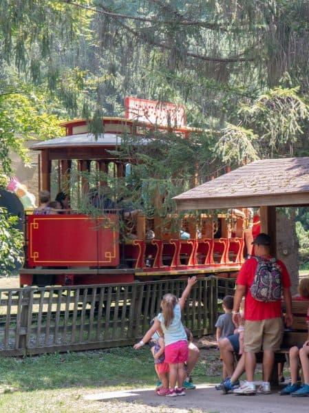 Trolley at Daniel Tiger's Neighborhood at Idlewild Amusement Park