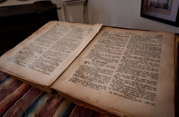 Johann Georg Rapp's Bible at the Harmony Museum