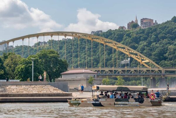 Just Ducky Tour in Pittsburgh passes by Point State Park