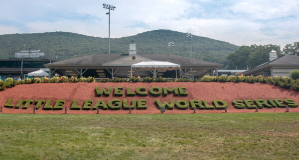 Welcome sign for the Little League World Series in Williamsport, PA