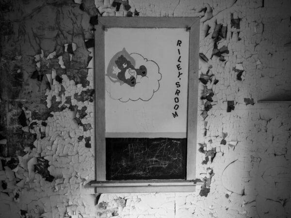 Abandoned child's room in Yellow Dog Village near Worthington, Pennsylvania