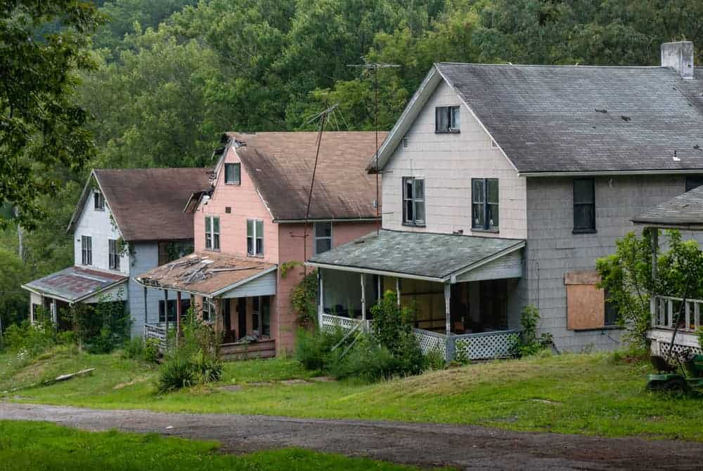 Inside the abandoned Yellow Dog Village in Worthington, Pennsylvania