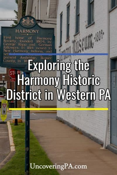 Exploring the Harmony Historic District in Butler County, Pennsylvania