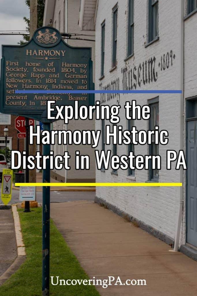 Exploring the Harmony Historic District in Butler County, Pennsylvania