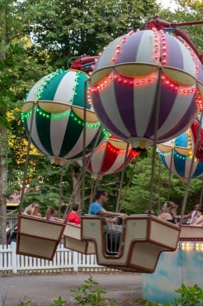 Balloon ride at Idlewild near Latrobe, PA