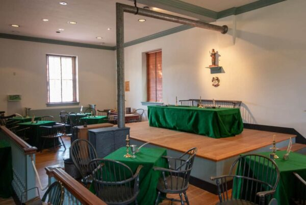 Inside the recreated historic York County Courthouse where the first Thanksgiving was declared