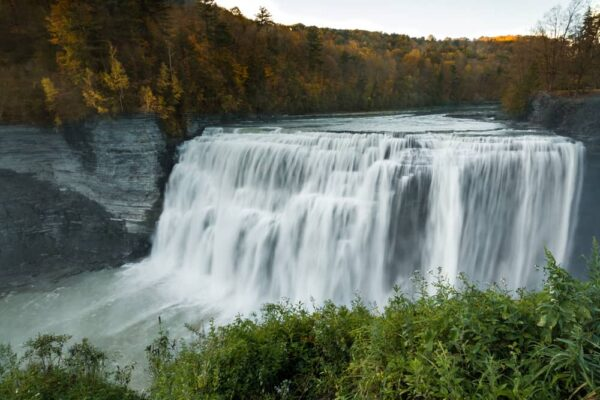 Genesee River in Letchworth State Park in New York