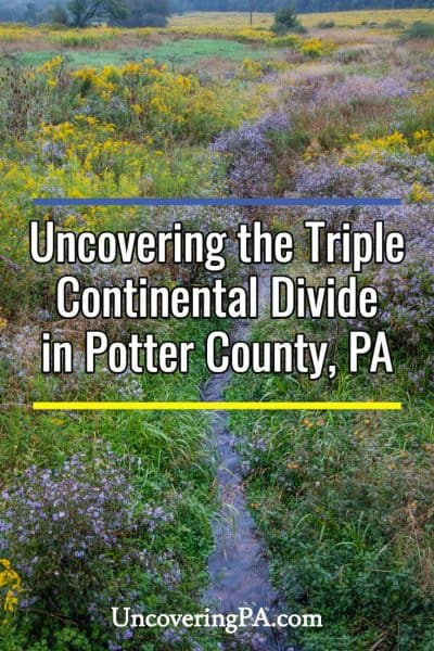Triple Continental Divide in Potter County, Pennsylvania