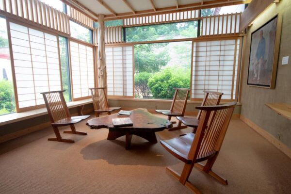Nakashima Reading Room in the Michener Museum near Philadelphia, PA