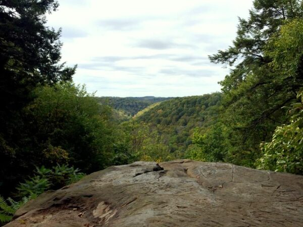 Cleland Rock vista in McConnells Mill State Park