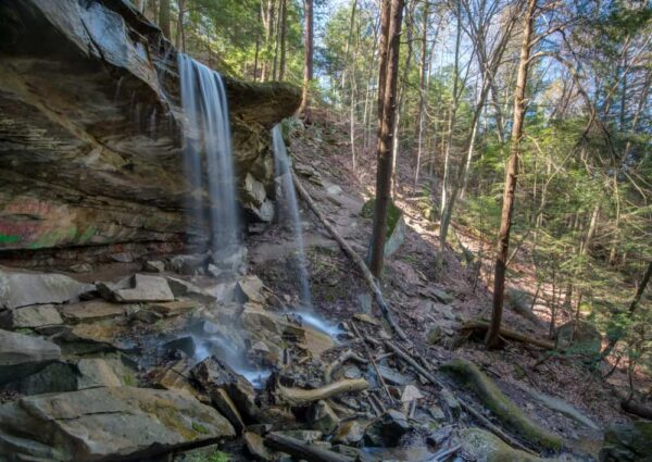 Kildoo Falls in McConnells Mill State Park in PA