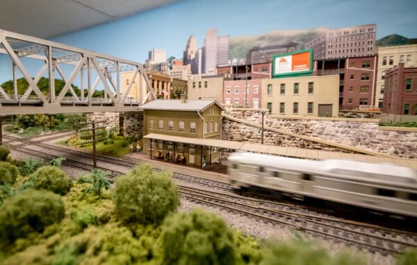 Train show at the Lehigh and Keystone Valley Model Railroad Museum in Bethlehem, Pennsylvania