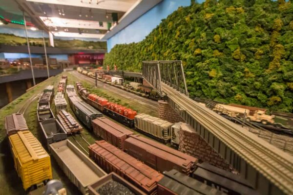 Trains at the Lehigh and Keystone Valley Model Railroad Museum in The Lehigh Valley of Pennsylvania