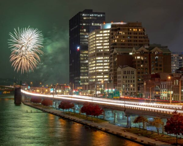 Santa Spectacular fireworks on Pittsburgh's Light Up Night