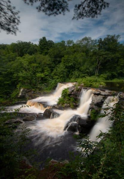 Resica Falls in Monroe County, Pennsylvania