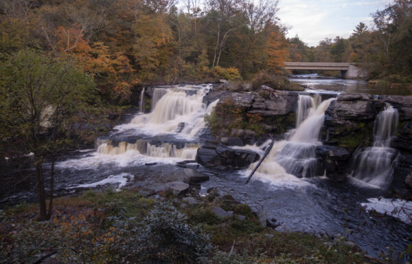 Resica Falls is one of the best waterfalls in the Pocono Mountains.