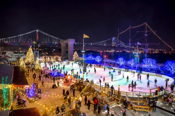 RiverRink WinterFest in Philadelphia on New Year's Eve