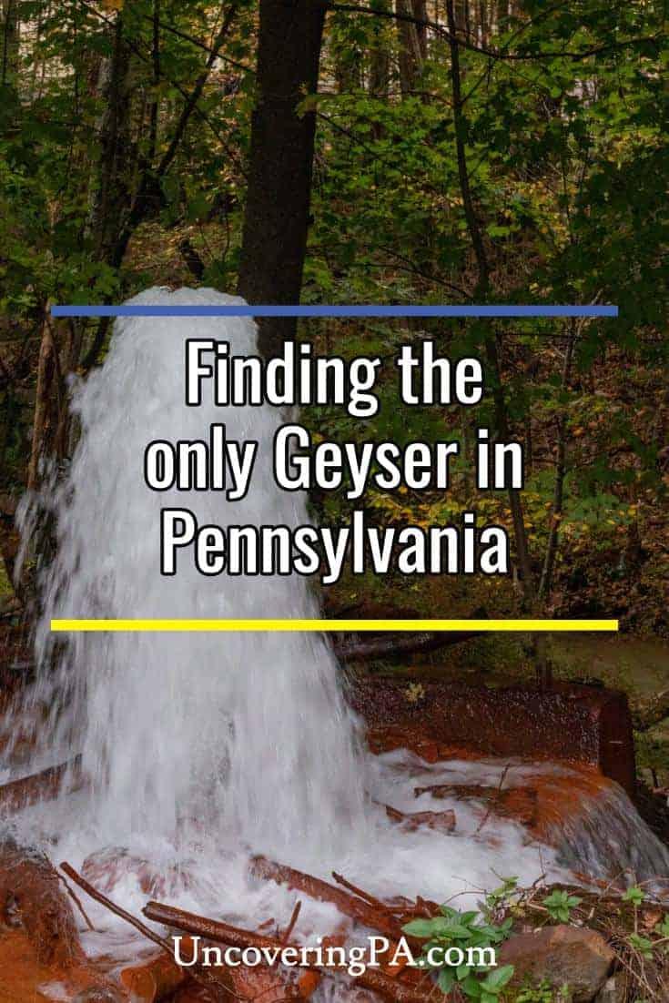 Find Big Mine Run Geyser in Pennsylvania's Schuylkill County. #PA