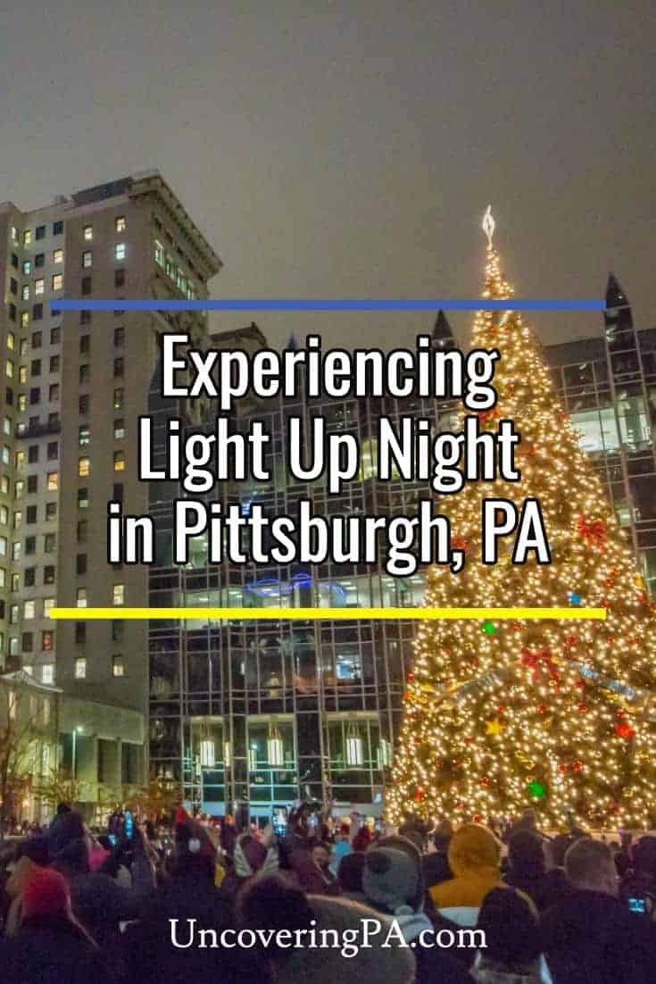 Kicking off the Christmas season during Light Up Night in Pittsburgh, Pennsylvania