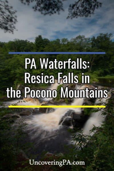 Resica Falls in the Pocono Mountains of Pennsylvania