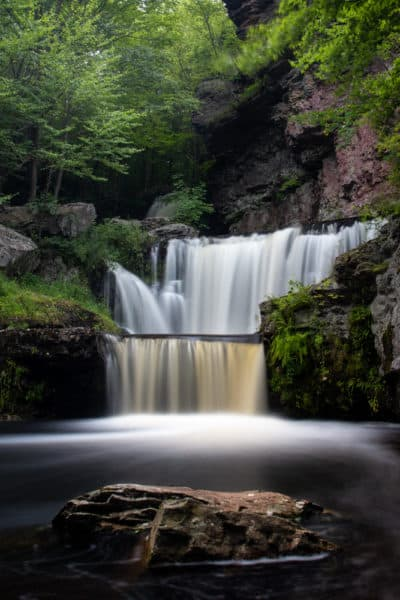 Photos of Pennsylvania waterfall in the Poconos