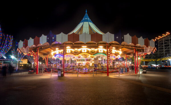 Carousel at Hersheypark's Christmas Candylane