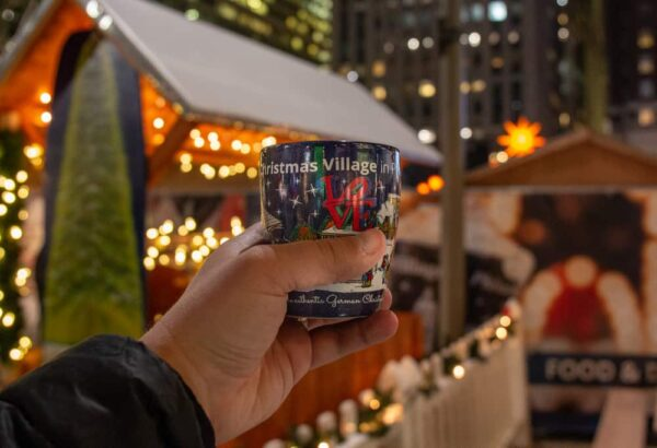 Glühwein at the Christmas Village in Center City Philadelphia