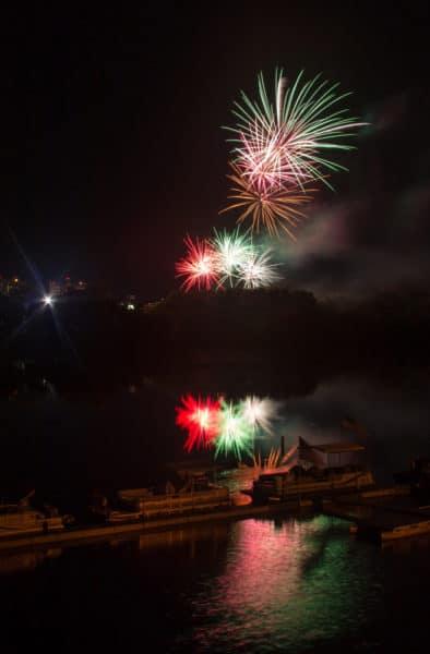 Fireworks from Riverside Park near Harrisburg