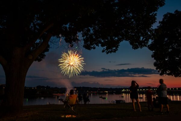 Harrisburg Fireworks from Riverfront Park