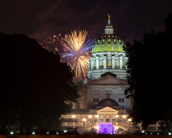 Where to see fireworks in Harrisburg, Pennsylvania