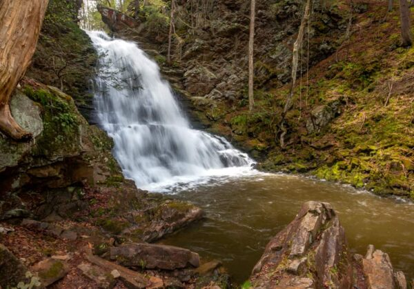 Little Shickshinny Falls is one of the best things to do near Wilkes-Barre, Pennsylvania