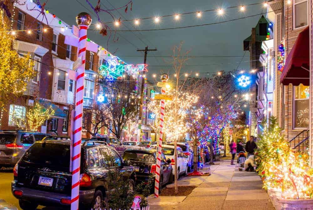 The Miracle On South 13th Street Festive Christmas Lights