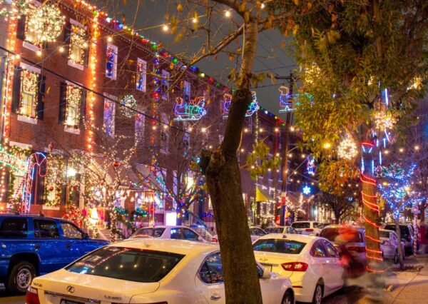Christmas at the The Miracle on South 13th Street in Philadelphia, PA