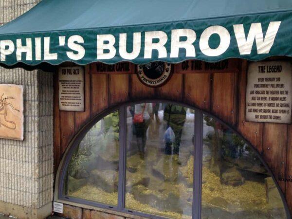 Phil's Burrow in Punxsutawney, PA