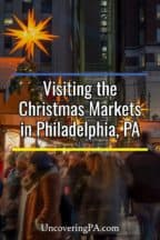 Shopping at the Christmas Markets in Philadelphia, Pennsylvania