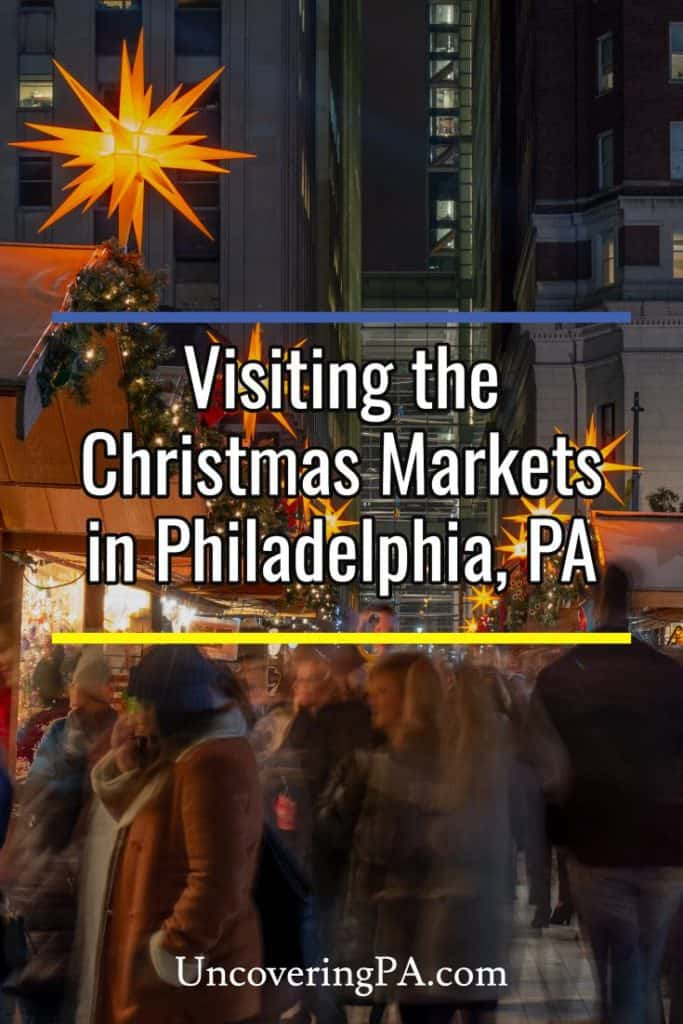Shopping at the Christmas Markets in Philadelphia, Pennsylvania