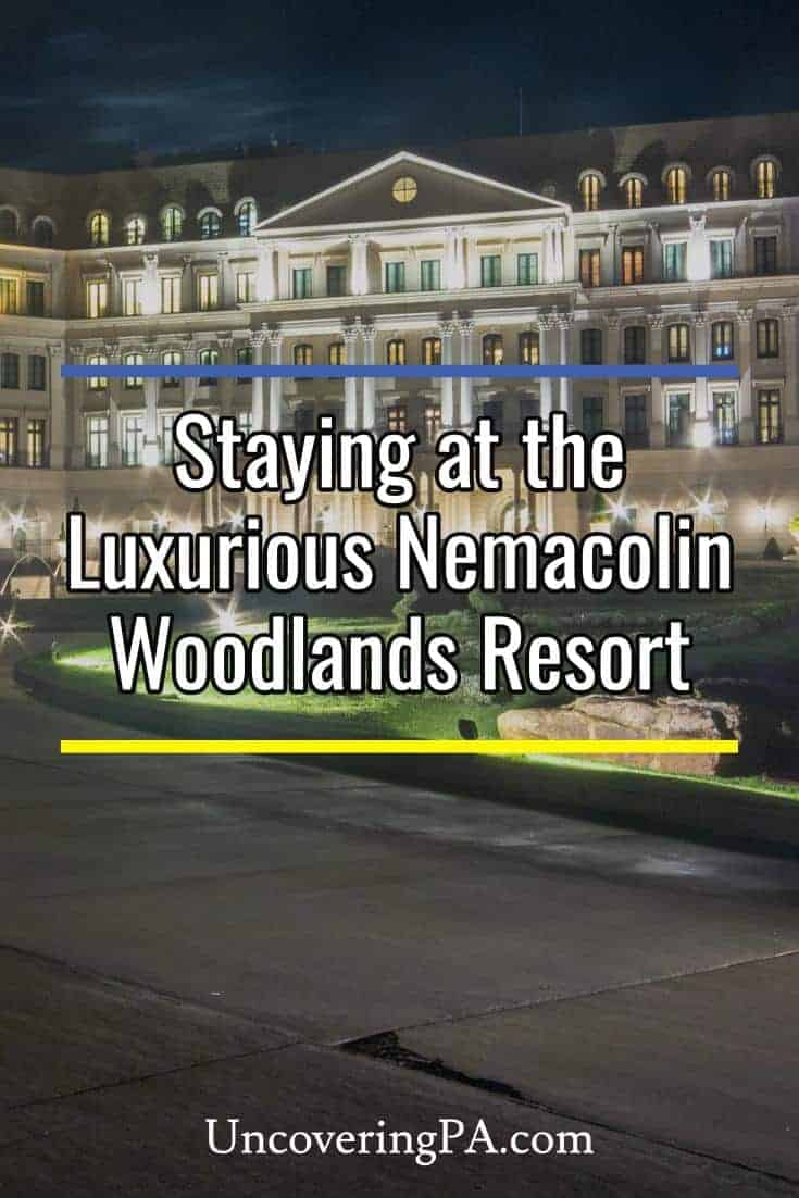 I had a chance to stay at the luxurious Nemacolin Woodlands Resort in the Laurel Highlands. Read my thoughts on this amazing property. #PA