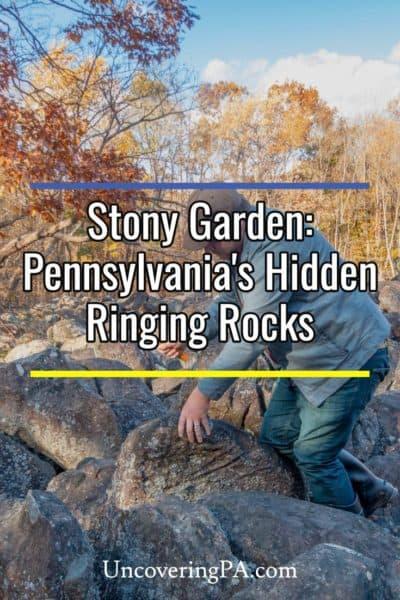 Hitting rocks in Stony Garden in Pennsylvania