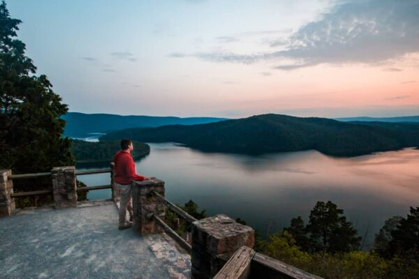 Overlooking Raystown lake during a weekend getaway in Pennsylvania