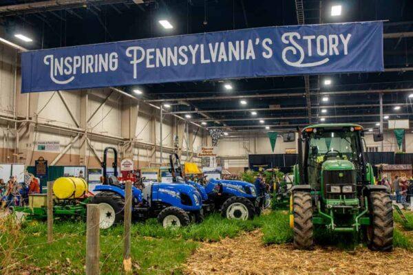 Farm equipment at the PA Farm Show in Harrisburg