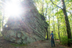 Exploring Beartown Rocks in Clear Creek State Forest