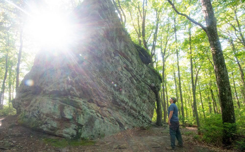 Beartown Rocks in Clear Creek State Forest in Pennsylvania