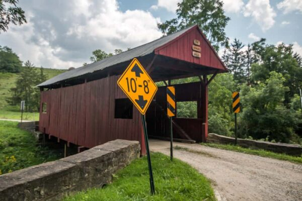 Danley Covered Bridge is one of the most isolated covered bridges in Washington County, PA